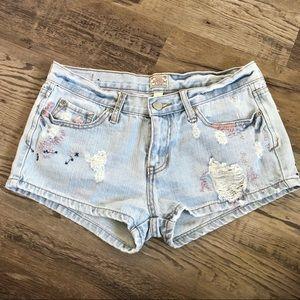 Abercrombie jean shorts embellished 4